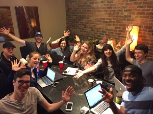 Our first production crew meeting for the film Be Not Afraid!  (Now in post-production)