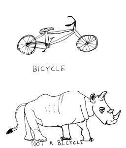Bikes not rhinos